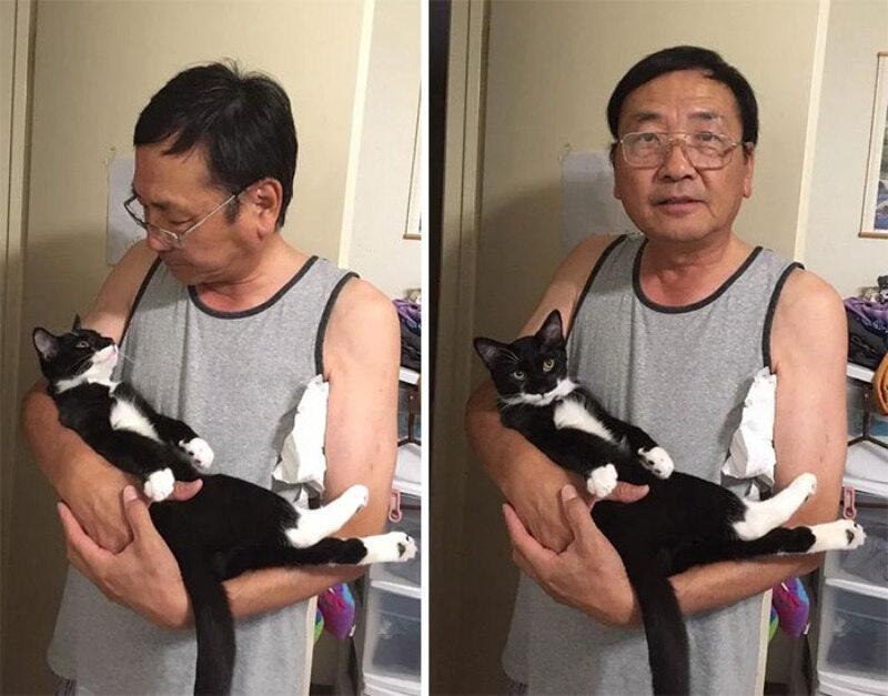 Tata i jego domowy pupil