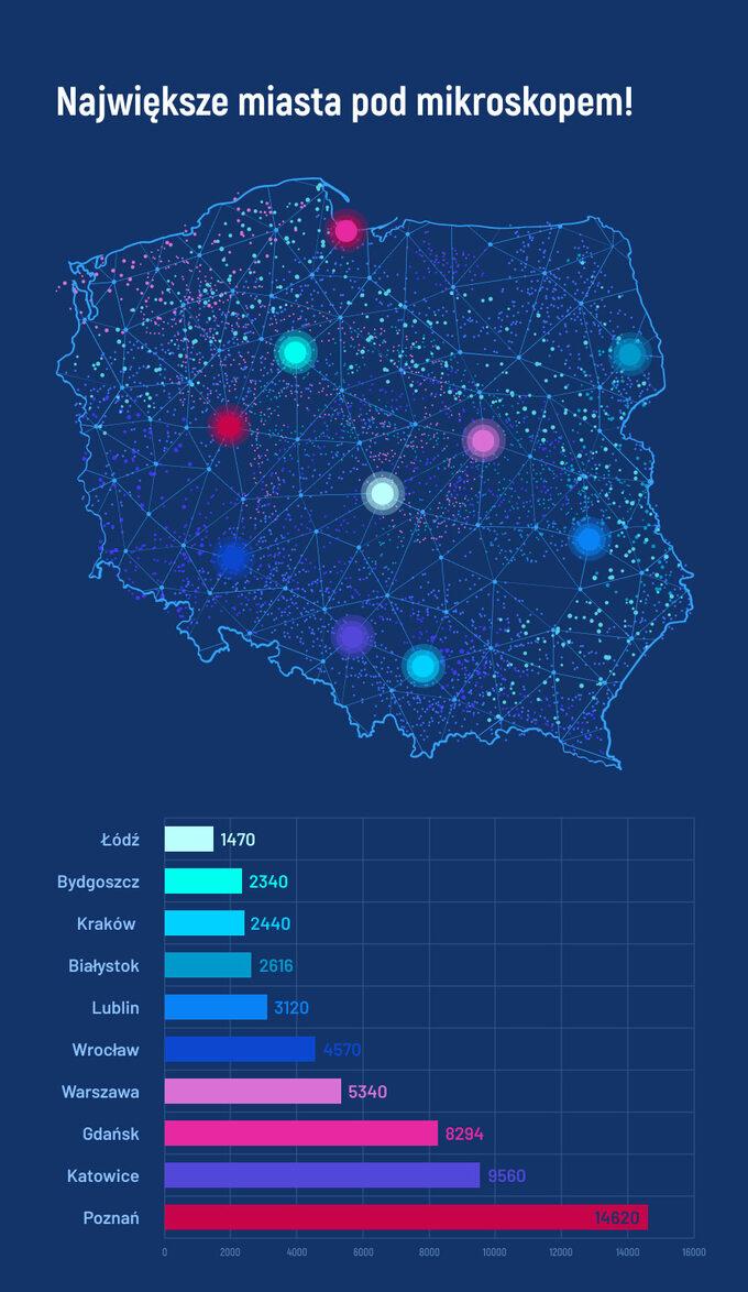Polskie miasta podmikroskopem