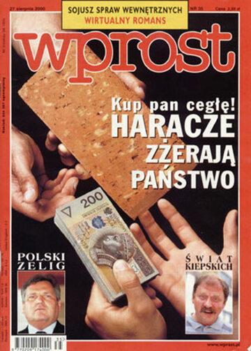 Okładka tygodnika Wprost nr 35/2000 (926)
