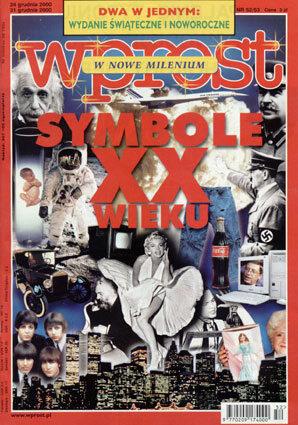 Okładka tygodnika Wprost nr 52/53/2000 (943)