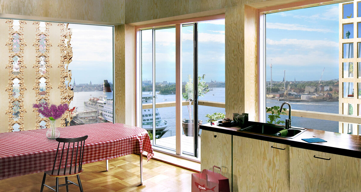 Drewniane wieżowce w Sztokholmie Projekt studia Anders Berensson Architects
