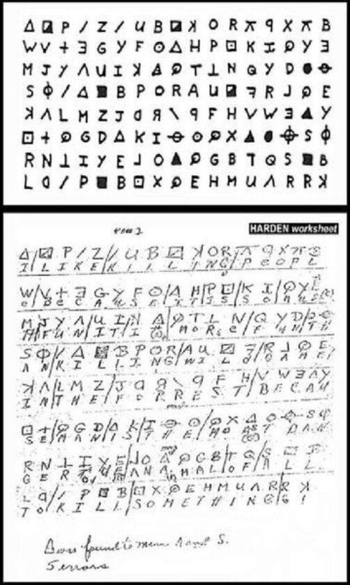 List Zodiaka odszyfrowany przez Donalda i Bettye Harden