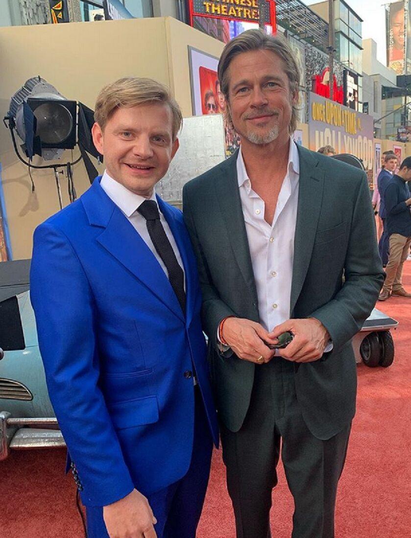 Rafał Zawierucha i Brad Pitt