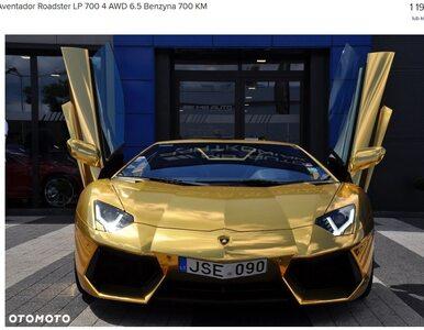 Pamiętacie wypadek złotego Lamborghini w Warszawie? Auto jest do kupienia
