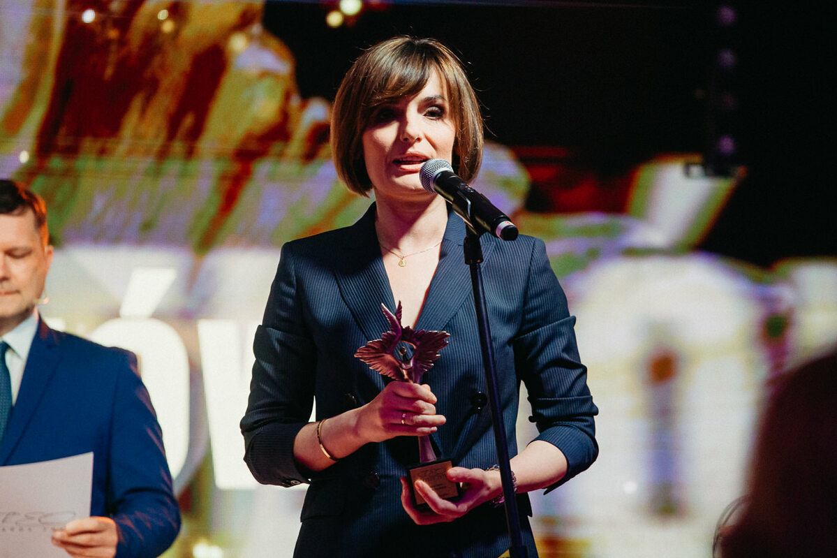 Dorota Gawryluk, laureatka nagrody ShEO Awards