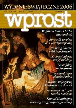Okładka tygodnika Wprost nr 51/52/2006 (1253)