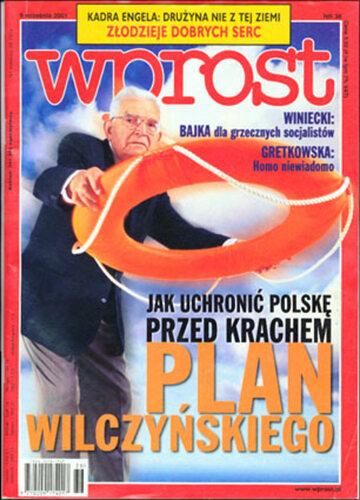 Okładka tygodnika Wprost nr 36/2001 (980)