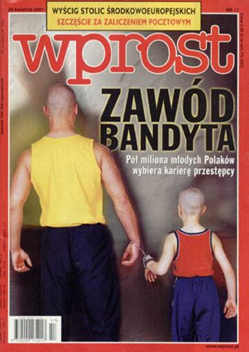 Okładka tygodnika Wprost nr 17/2001 (961)