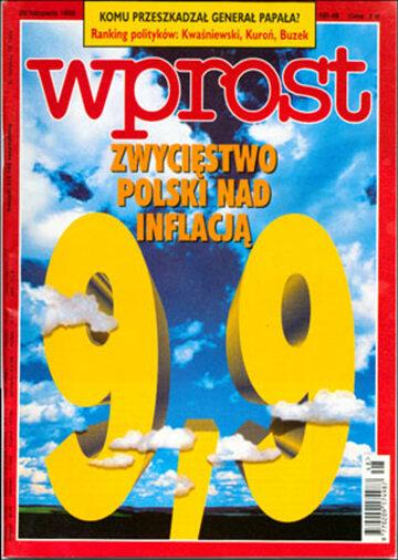 Okładka tygodnika Wprost nr 48/1998 (835)
