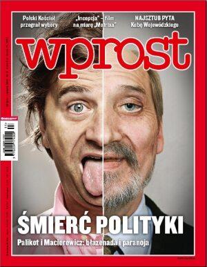 Okładka tygodnika Wprost nr 31/2010 (1434)