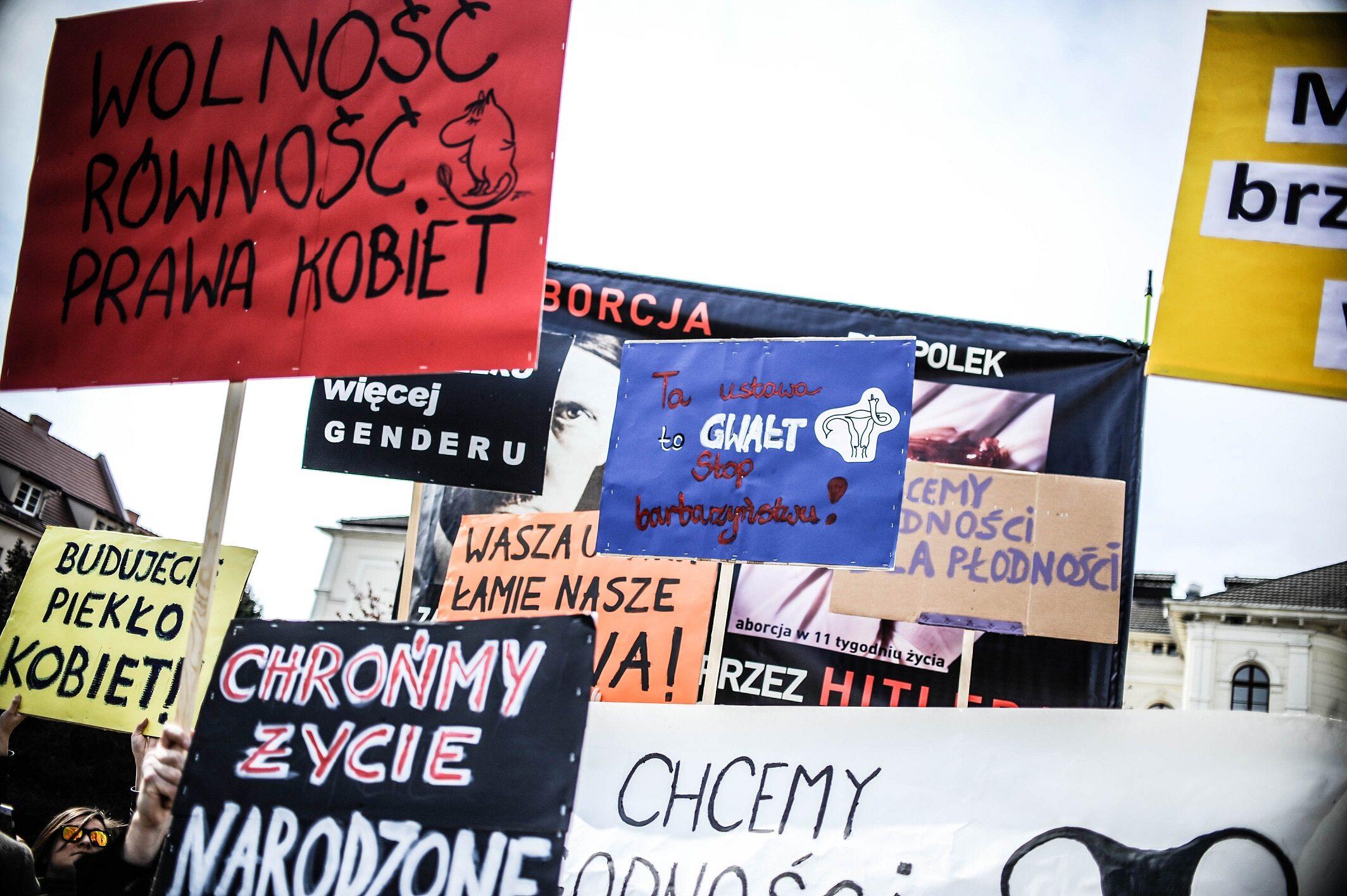 Aborcja, manifestacja