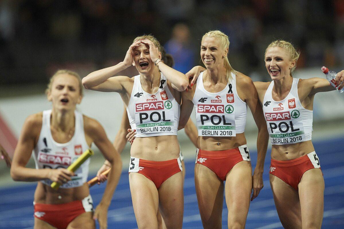 Polska sztafeta 4x400 metrów Polki zdobyły złoto w składzie: Małgorzata Hołub-Kowalik, Iga Baumgart-Witan, Patrycja Wyciszkiewicz i Justyna Święty-Ersetic.