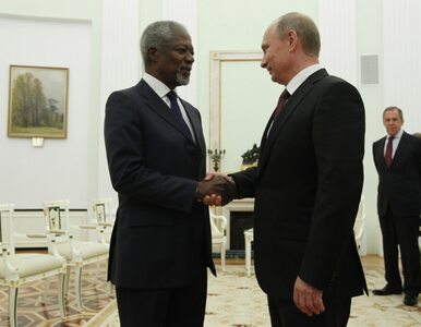 """Annan u Putina. """"Tak źle w Syrii jeszcze nie było"""""""