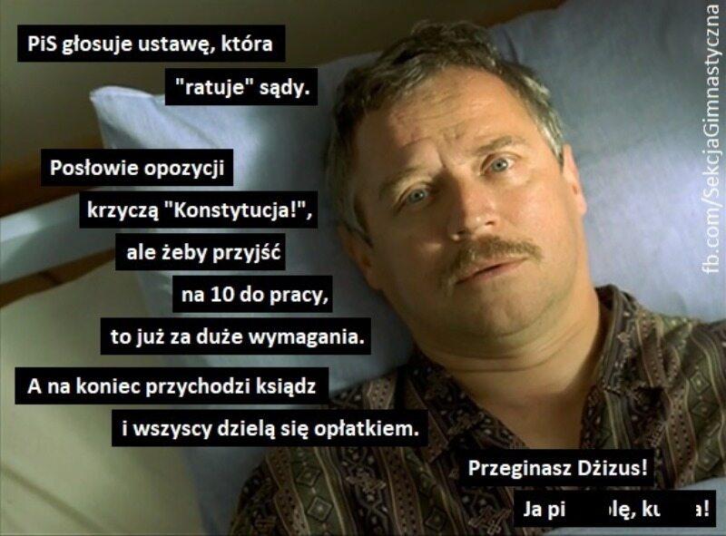 Mem związany z wydarzeniami w Sejmie