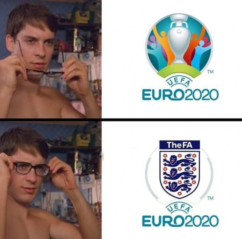 Mem po meczu Anglików z Duńczykami