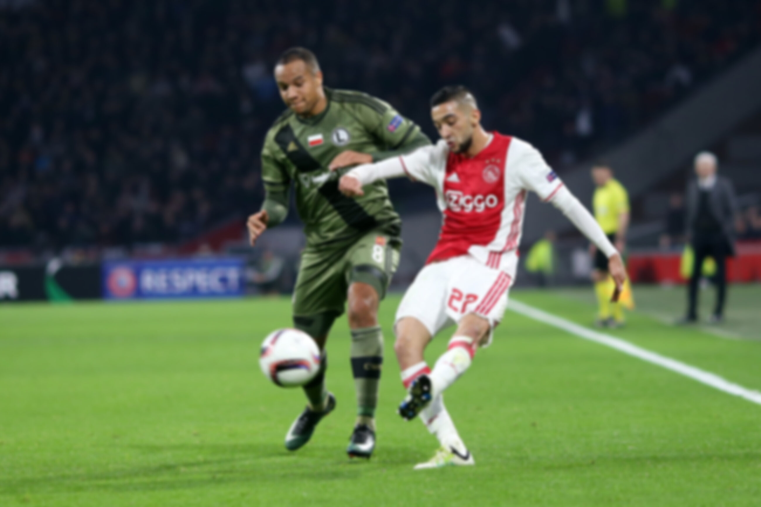 Mecz Ajax-Legia w Amsterdamie