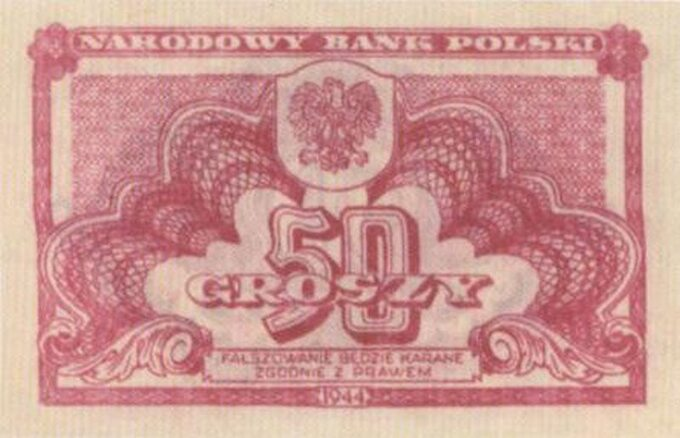 Bankont zserii lubelskiej -50 groszy