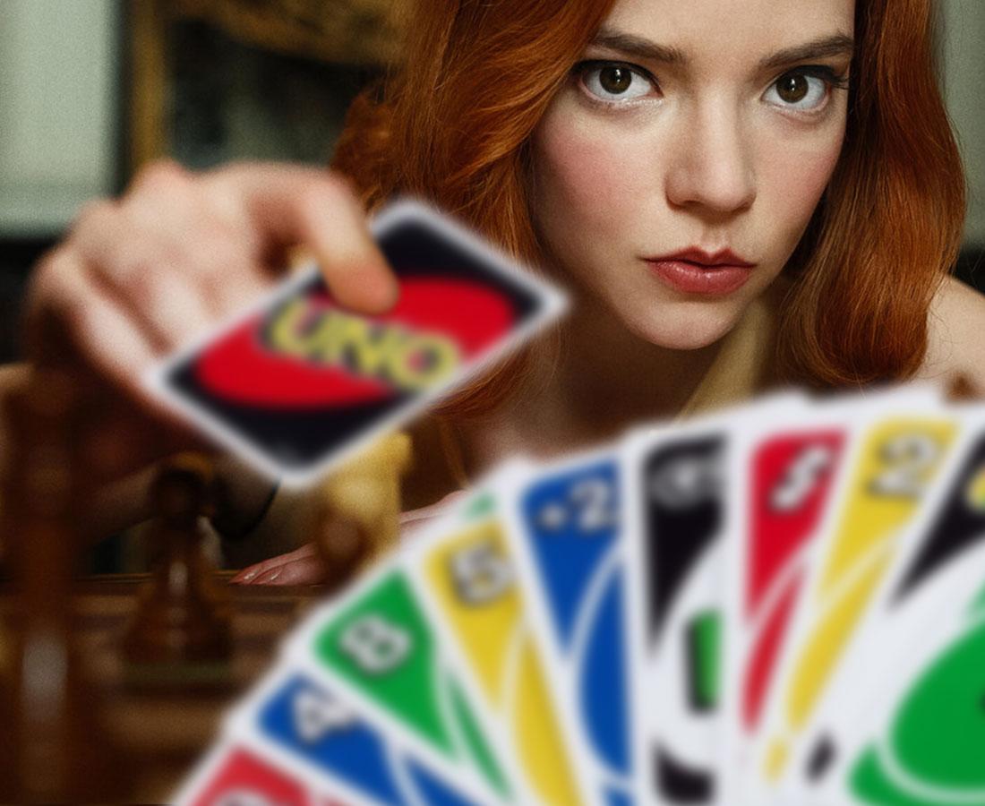 "Mem z serialu ""Gambit królowej"""