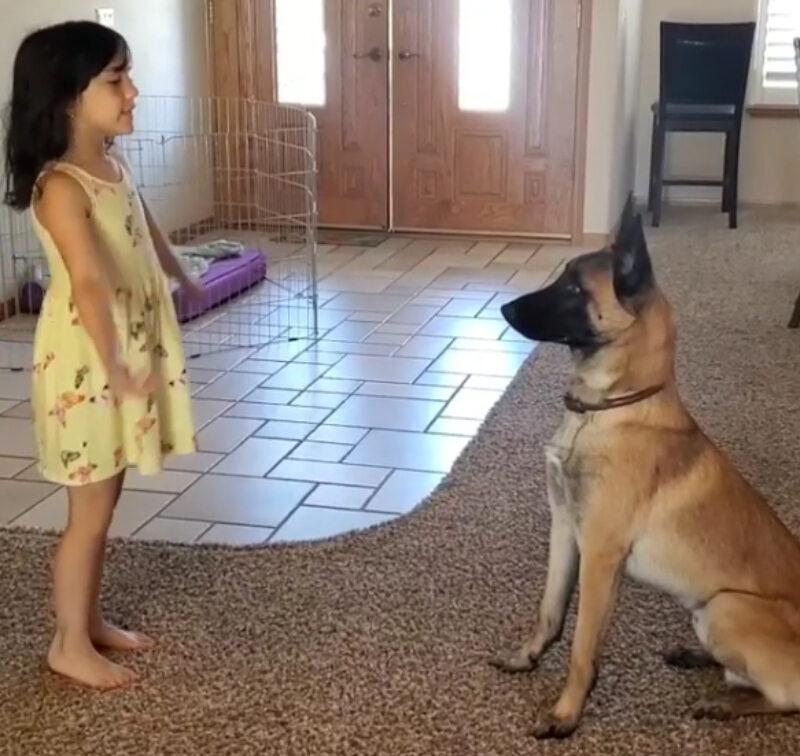 Dziewczynka i pies Monkey