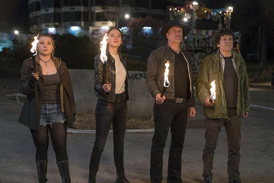 "Woody Harrelson, Jesse Eisenberg, Abigail Breslin i Emma Stone w ""Zombieland: Double Tap"" (2019)"