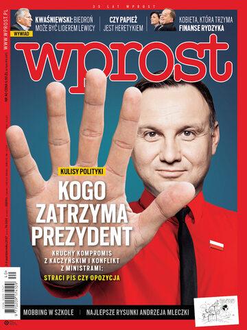 Okładka tygodnika Wprost nr 40/2017 (1805)