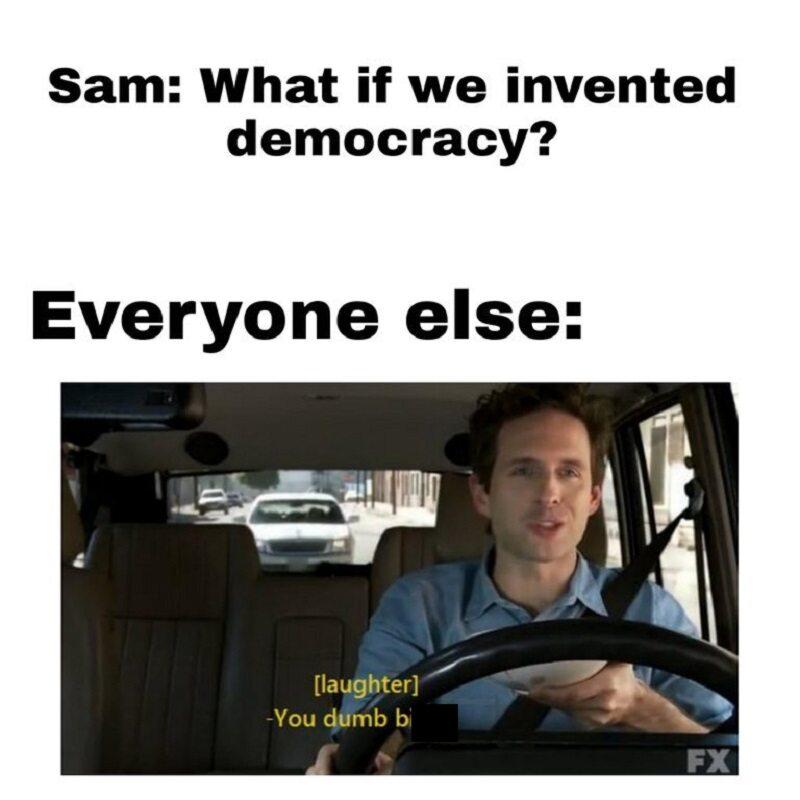 Sam: a może wprowadzimy demokrację?