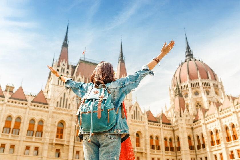 Turystka w Budapeszcie