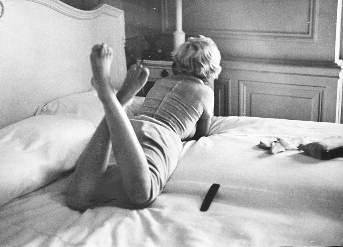 Marilyn Monroe fotos z filmu Słomiany Wdowiec