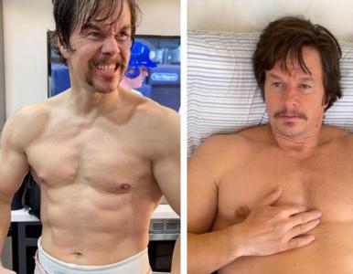Mark Wahlberg przytył ponad 10 kilogramów. Pokazał zdjęcia swojej...
