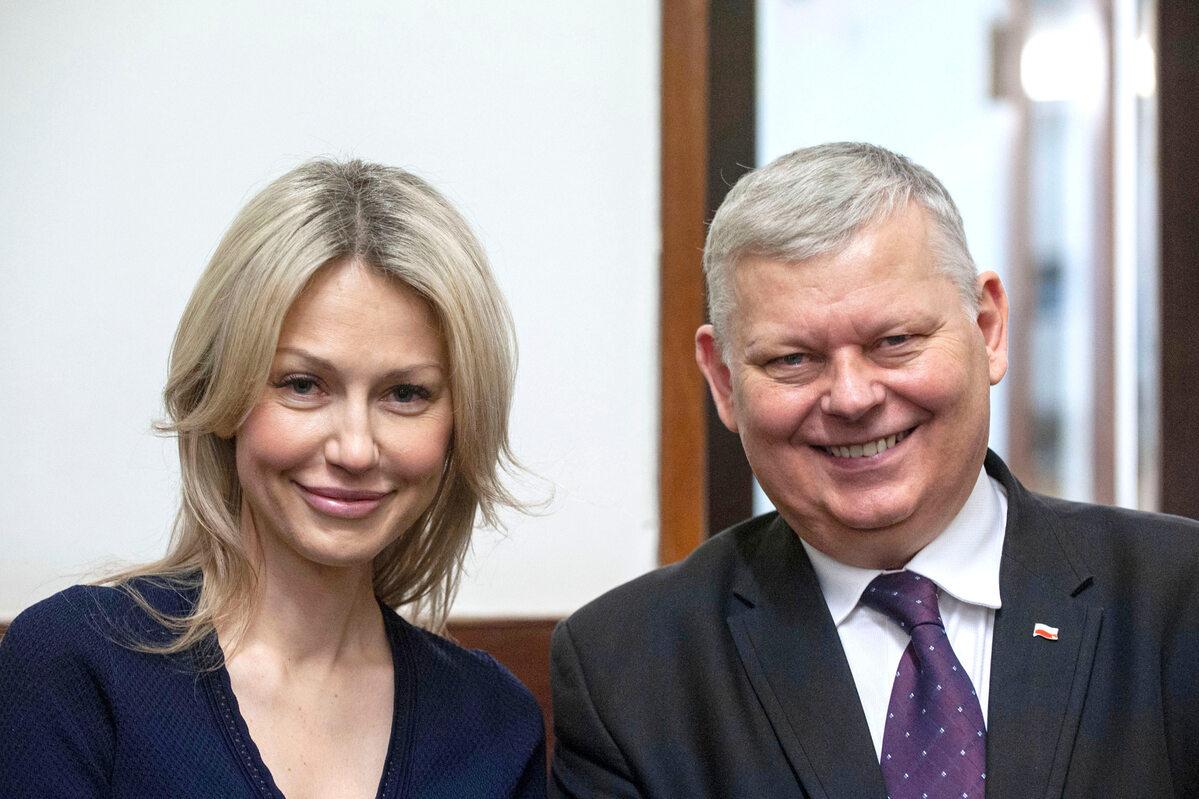 Magdalena Ogórek i Marek Suski w 2020 roku