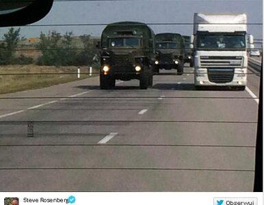 180 km do Ługańska. Do białego konwoju dołączają wojskowe ciężarówki
