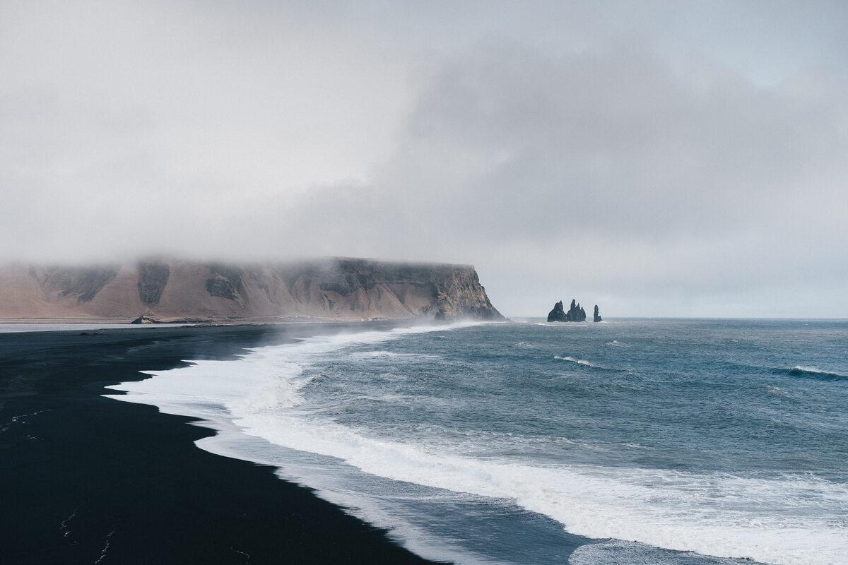 Islandia Black sand beach, Iceland