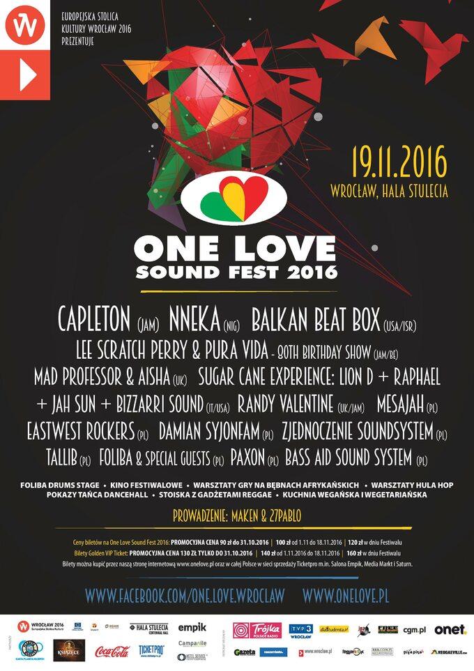 Plakat festiwalu One Love Sound Fest 2016