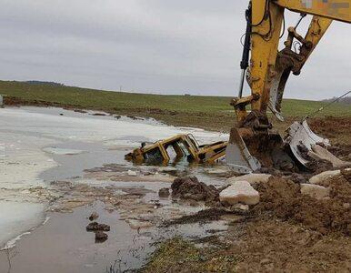 Operator spycharki utonął na budowie Via Baltica
