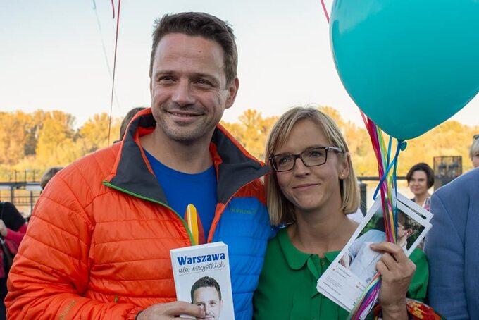 Rafał Trzaskowski z żoną Małgorzatą