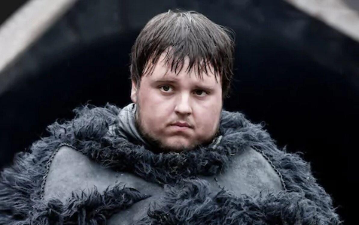 """Samwell Tarly po raz pierwszy w """"Grze o tron"""" Postać grana jest przez Johna Bradley'a Westa."""