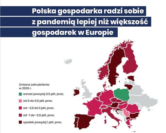"""Polska jako """"zielona wyspa"""" namapie wPolskim Ładzie"""