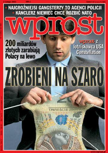 Okładka tygodnika Wprost nr 5/2003 (1053)