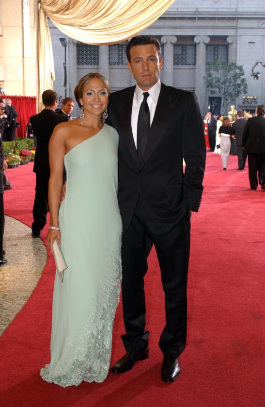 Jennifer Lopez i Ben Affleck podczas 75. ceremonii rozdania Oscarów w 2003 roku