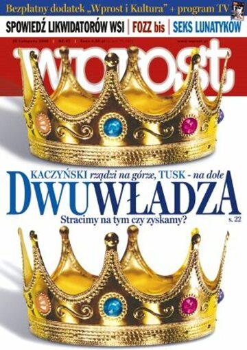 Okładka tygodnika Wprost nr 47/2006 (1249)