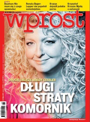 Okładka tygodnika Wprost nr 28/2013 (1585)