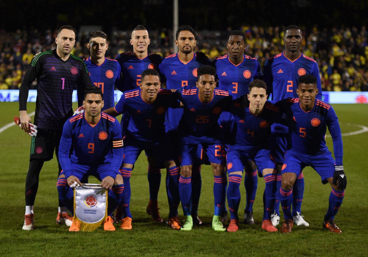 Reprezentacja Kolumbii w marcu 2018 r.