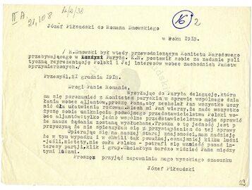 Listy Piłsudskiego do Dmowskiego