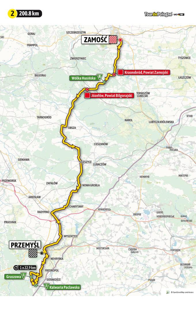 Etap 2 Tour de Pologne UCI World Tour: ZZamościa doPrzemyśla