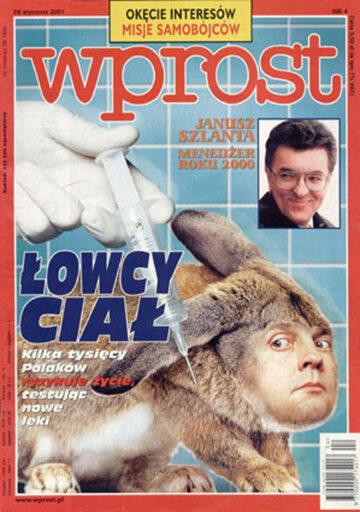 Okładka tygodnika Wprost nr 4/2001 (948)