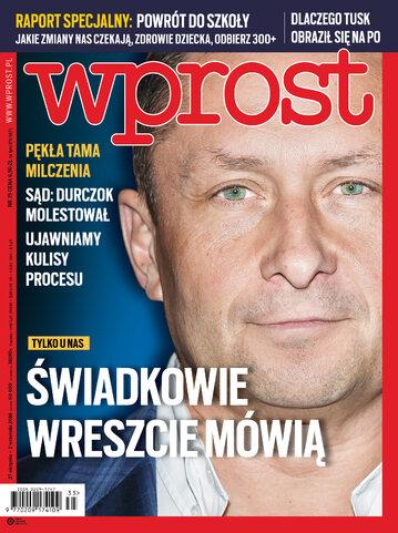 Okładka tygodnika Wprost nr 35/2018 (1850)