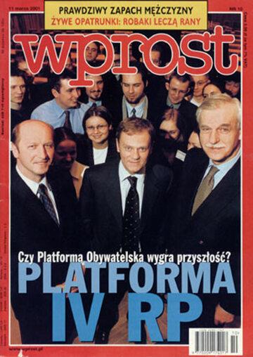 Okładka tygodnika Wprost nr 10/2001 (954)