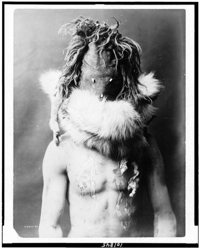 Indianin z plemienia Nawaho, 1905 rok