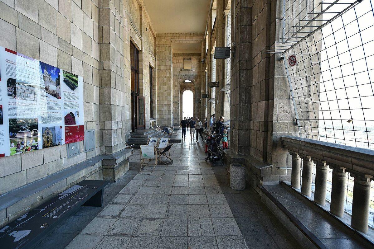 Taras widokowy na 30. piętrze (114 m) gmachu PKiN