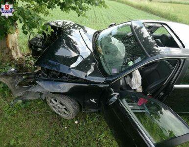 Lubartów. Tanzańczyk rozbił BMW. Twierdzi, że na drogę wybiegła... antylopa